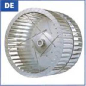 Ventole DE pala avanti a doppia aspirazione con mozzo in alluminio
