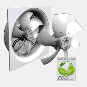 Ventilatori assiali EC per condizionamento dell'aria, refrigerazione,...