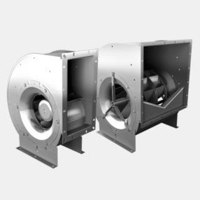 Ventilatori centrifughi a pala rovescia direttamente accoppiati serie E/DHA...