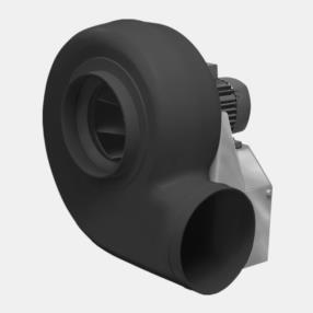 Ventilatori centrifughi con coclea in plastica e motore asincrono...