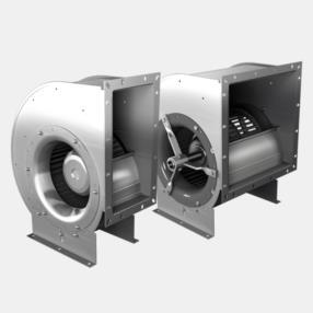 Ventilatori centrifughi pala avanti singola e doppia aspirazione direttamente accoppiati serie E/DRA...